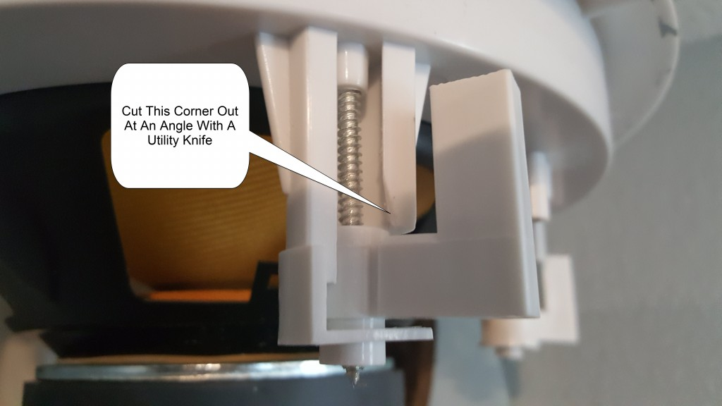 Designing a Home Theater - Home Theater Speakers - acoustic audio hd728 - Cut This Plastic Corner Of The Speaker