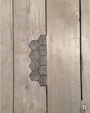 DIY Rustic Farmhouse Wide Plank Plywood Flooring - wabi sabi - broken is beautiful pinterest pin