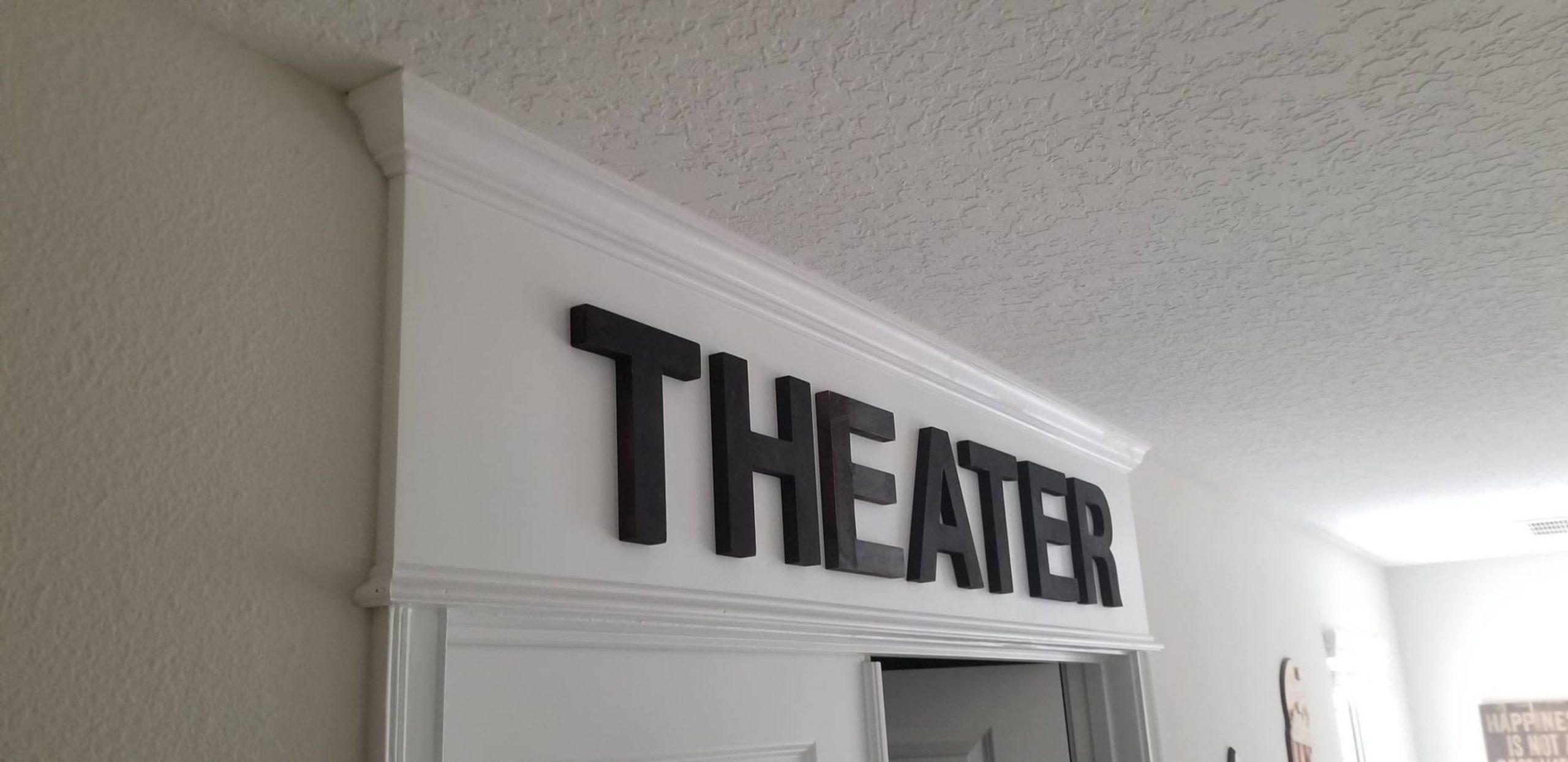 DIY Home Theater Entrance Sign